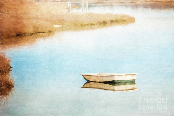 Dinghy In Eastham Poster