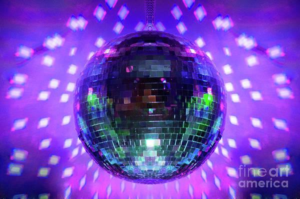 Disco Ball Purple Poster