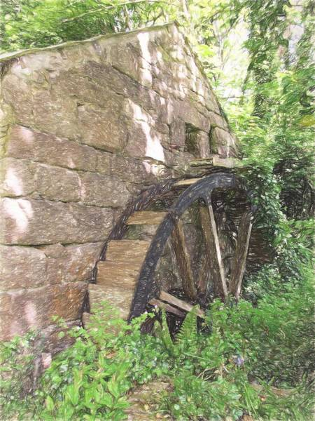 Disused Water Wheel Poster