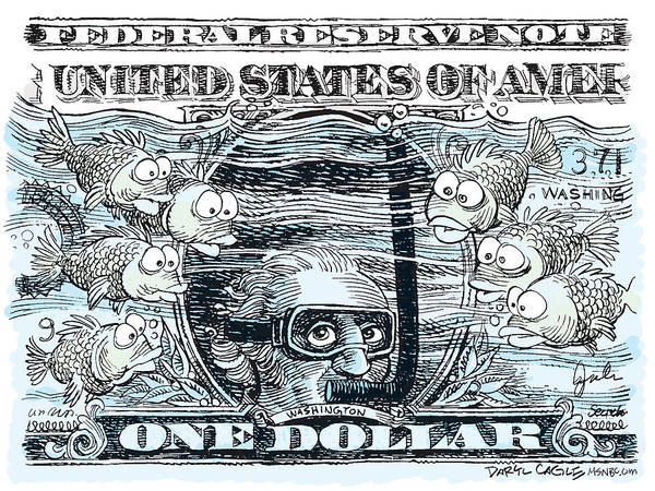 Dollar Submerged Poster