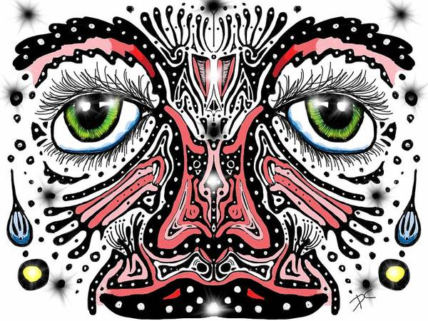 Doodle Face Poster