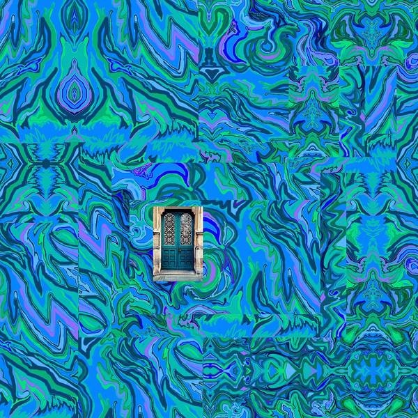 Doorway Into Multi-layers Of Water Art Collage Poster