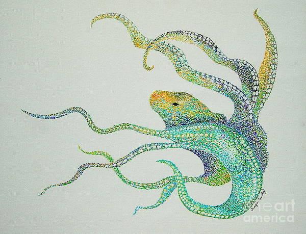 Dot Octopus Poster