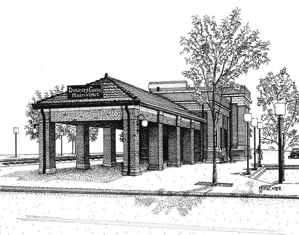 Downers Grove Main Street Train Station Poster