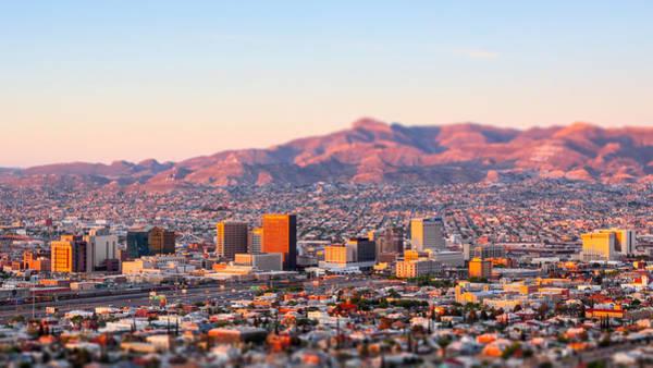 Downtown El Paso Sunrise Poster
