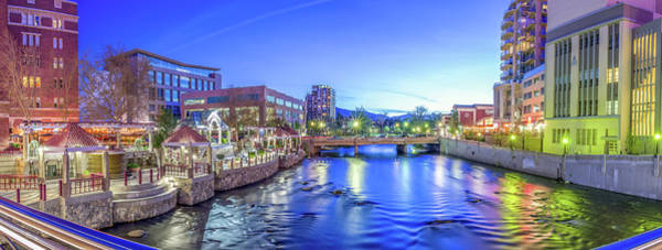 Downtown Reno Summer Twilight Poster