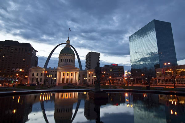 Downtown St. Louis At Dawn Poster