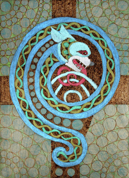Dragon And The Circles Poster