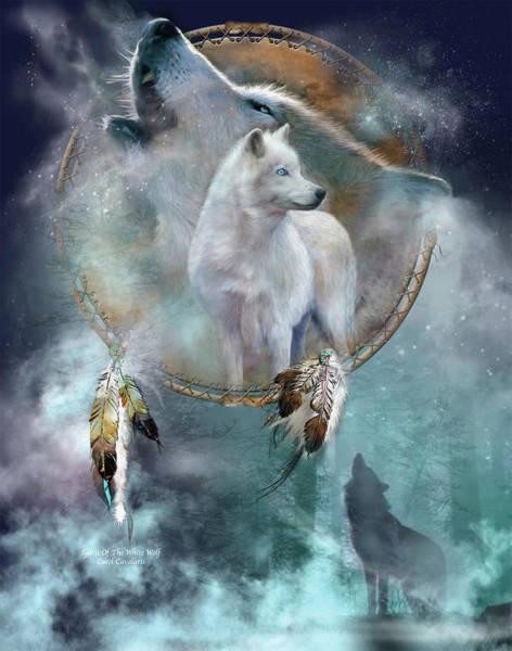 Dream Catcher - Spirit Of The White Wolf Poster