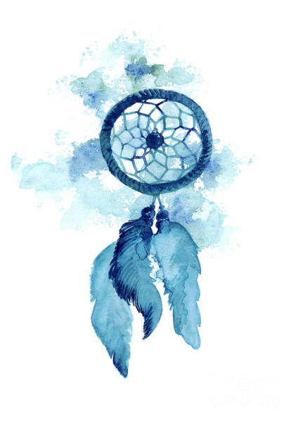 Dream Catcher Watercolor Art Print Painting Poster