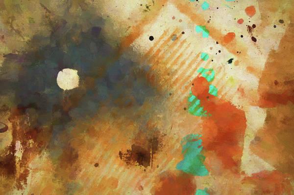 Dropcloth Moon Poster