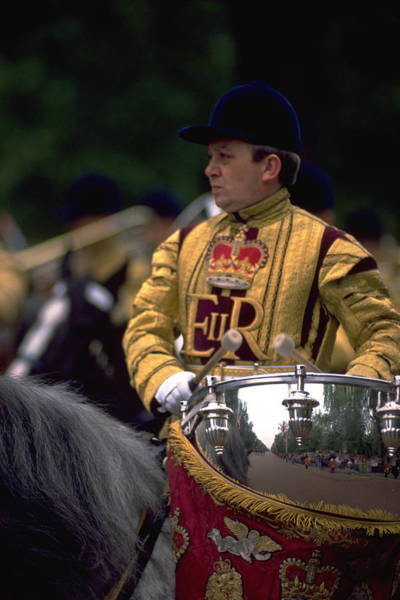 Poster featuring the photograph Drum Horse At Trooping The Colour by Travel Pics