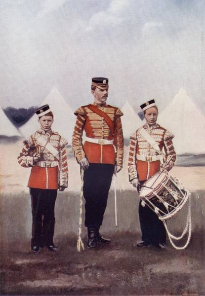 Drum Major And Drummers, Coldstream Poster