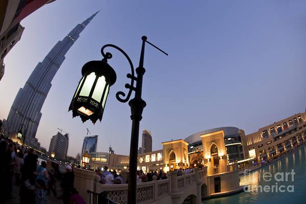 Poster featuring the photograph Dubai Burj Khalifa by Juergen Held