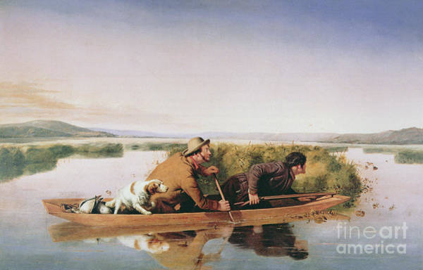 Duck Hunters On The Hoboken Marshes, New Jersey, 1849 Poster