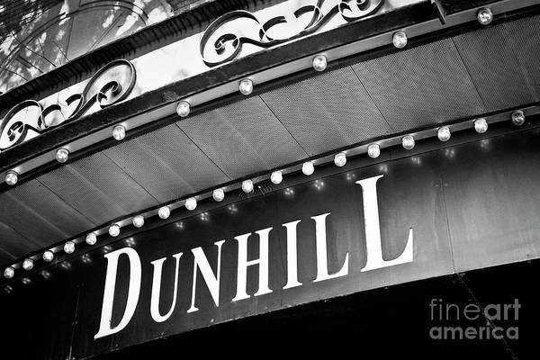 Dunhill Bw Poster