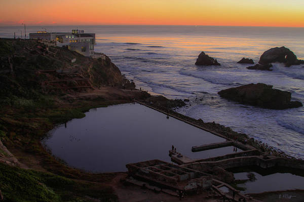 Dusk At Sutro Baths Poster