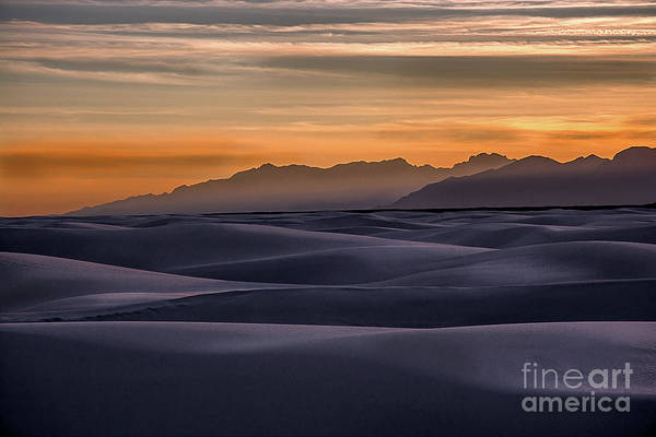 Dusk At White Sands Poster