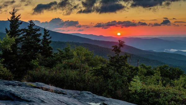 Blue Ridge Parkway Sunrise - Beacon Heights - North Carolina Poster