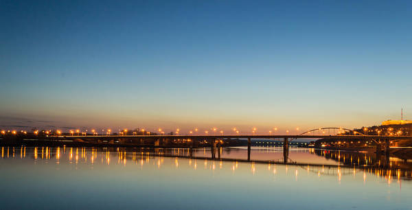 Early Evening Bridge At Sunset Poster