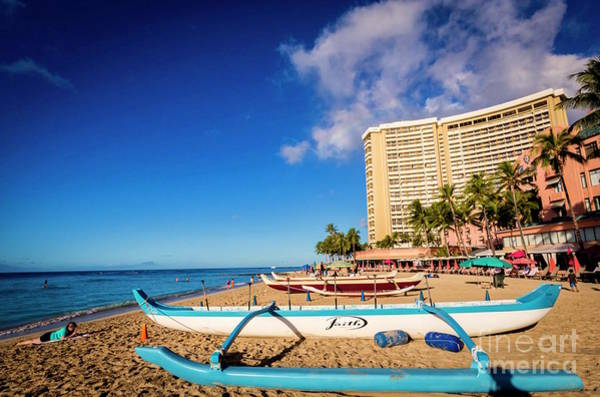 Early Morning At Outrigger Beach,hawaii Poster
