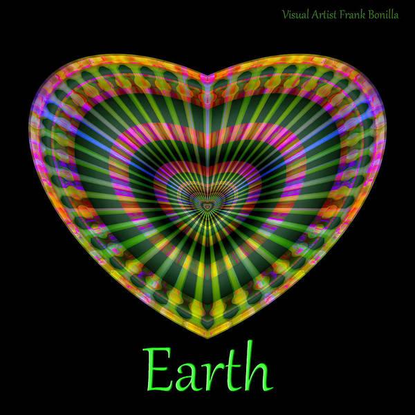 Poster featuring the digital art Earth by Visual Artist Frank Bonilla
