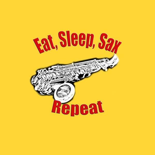 Eat Sleep Sax Repeat Poster