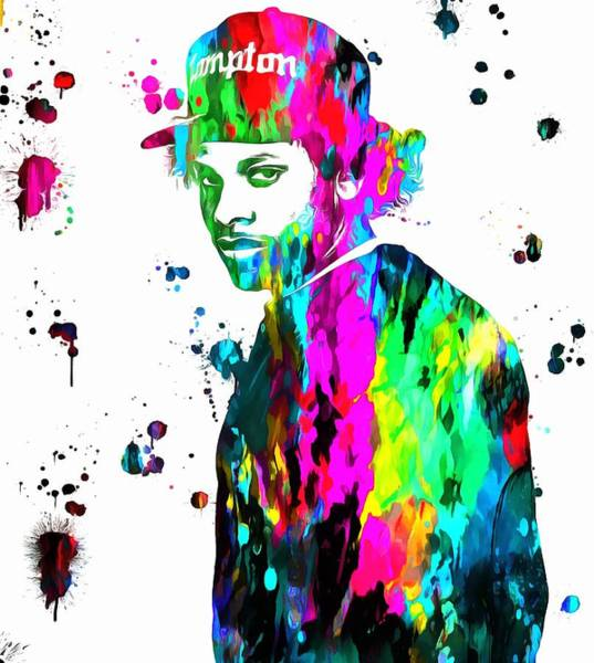 Eazy E Paint Splatter Poster