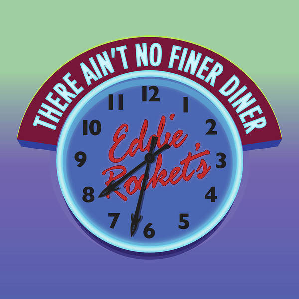 Eddie Rocket Clock Poster