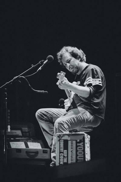 Eddie Vedder Playing Live Poster