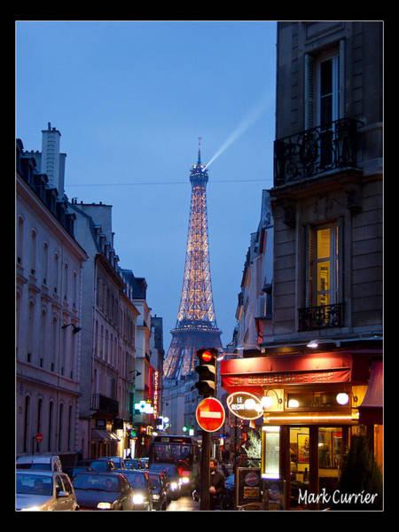 Eiffel Suburb At Dusk Poster