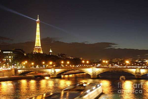 Eiffel Tower By Night Poster
