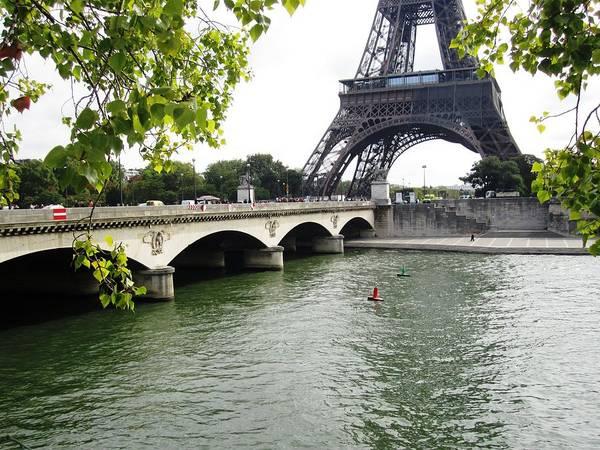 Eiffel Tower Seine River Paris France Poster