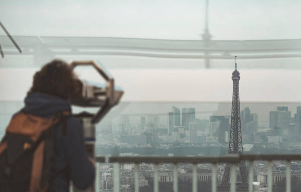 Poster featuring the photograph Eiffel View by Nikos Stavrakas