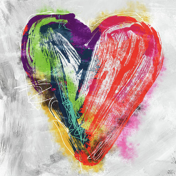 Electric Love- Expressionist Art By Linda Woods Poster