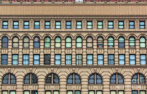 Ellicott Square Building Buffalo Ny Ink Sketch Effect Poster