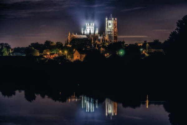 Ely Cathedral By Night Poster