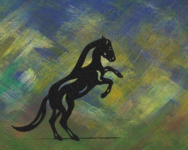 Poster featuring the painting Emma II - Abstract Horse by Manuel Sueess
