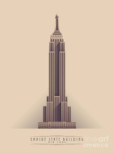 Empire State Building - Vintage Light Poster