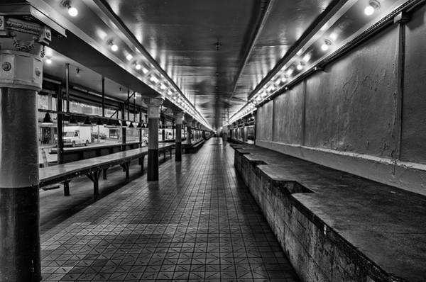Empty Pike Place Market In Seattle Poster