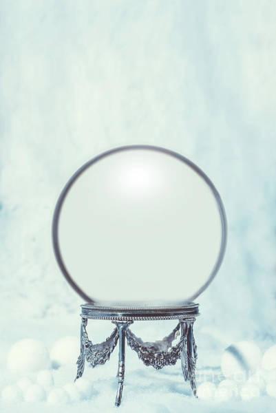 Empty Winter Snow Globe Poster