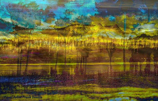 Poster featuring the digital art Enchanted Land by Visual Artist Frank Bonilla