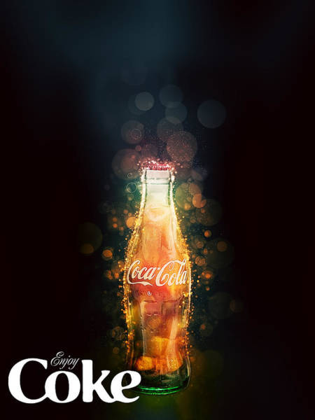 Enjoy Coca-cola With Bubbles Poster