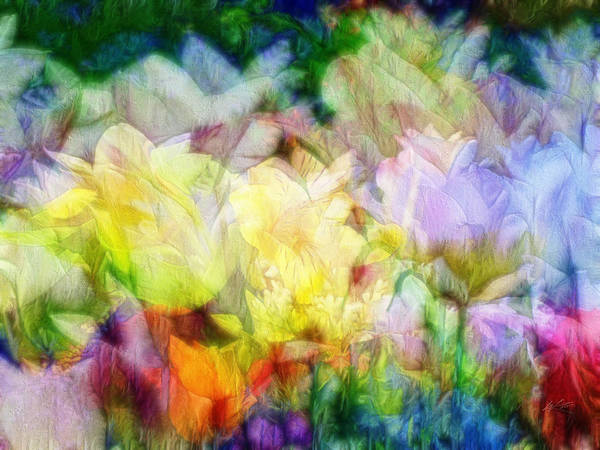 Ethereal Flowers Poster
