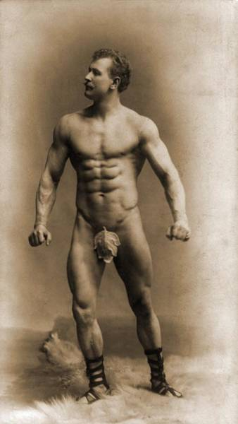 Eugen Sandow 1867-1925, Assuming A Pose Poster