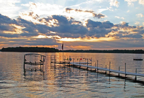 Evening Calm On Orchard Lake Poster