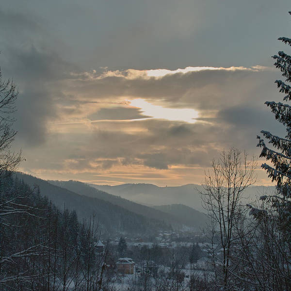 Evening In Carpathians. Sheshory, 2010. Poster