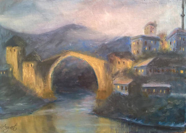 Evening In Mostar Poster