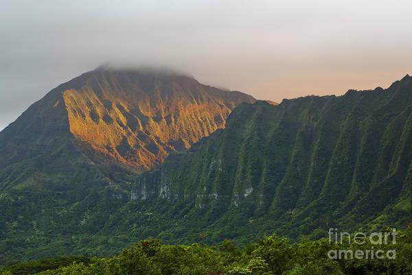 Evening Light On Ko'olau Mountains Poster