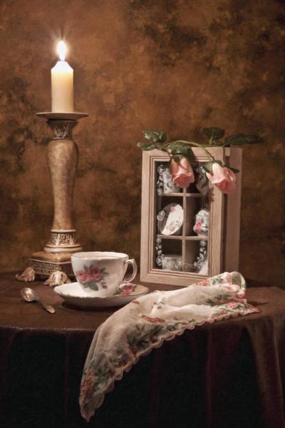 Evening Tea Still Life Poster